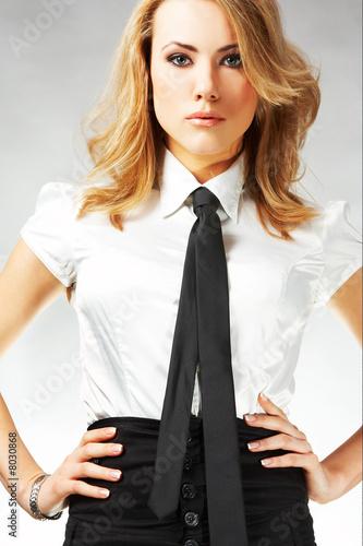 Fotografie, Obraz  Portrait of a beautiful businesswoman