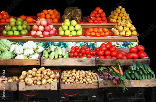 Vegetable & fruit market stall © feferoni