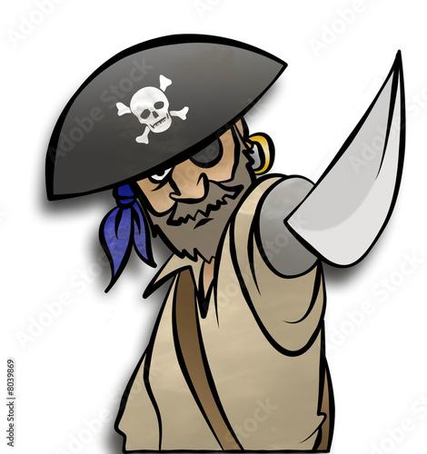 Foto-Plissee - Threatening Pirate (von Jonathan Cooke)