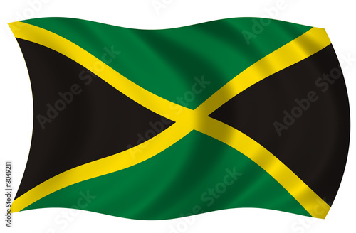 Bandera de Jamaica Wallpaper Mural
