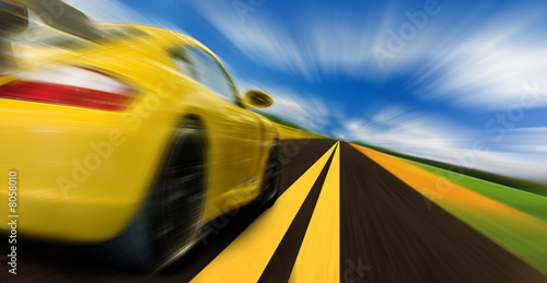 Foto op Aluminium Oranje Speed