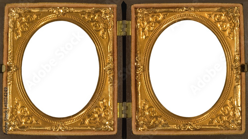 ANTIQUE DOUBLE PICTURE FRAME