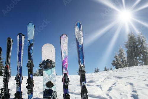 Fotografía  ski ciel soleil