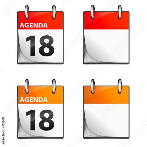 Fotografía  icone agenda