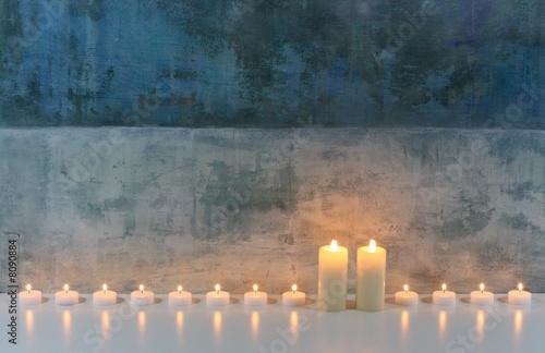 Doppelrollo mit Motiv - Kerzen (von Bernd S.)