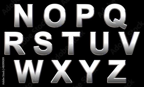Fotografía  Chrome Alphabet