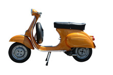 Vintage Vespa Scooter (path In...