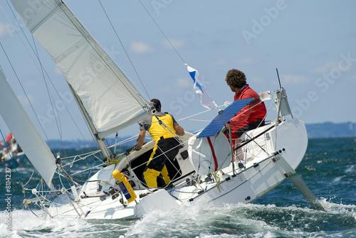 Cadres-photo bureau Voile course de voilier