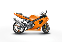 Retouched Photo Of A Motorcycle With Clipping Path