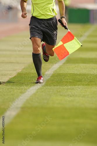 Fotografie, Tablou  Futbol Juez de linea