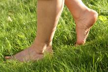 Gesunde Füße, Barfuß Im Gras, Barfuß, Barfuss, Copyspace