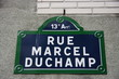 Rue Marcel Duchamp, Paris, France.