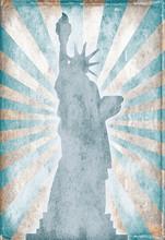 Liberty Statue In Grunge, Retr...