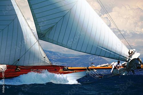 Fotografie, Obraz  voilier bateau régate port mer méditerranée côte d'azur provence