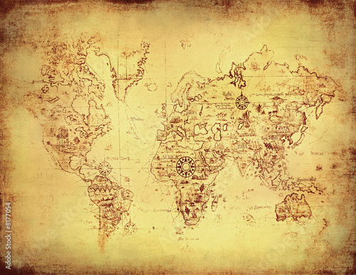 Recess Fitting World Map ancient map of the world.
