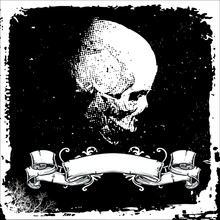 Text Area With Skull