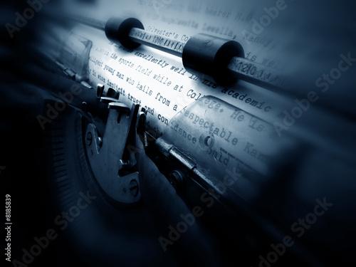 Photo old typewriter