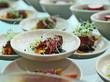 salat,antipasti, vorspeise büffet, roastbeef salat