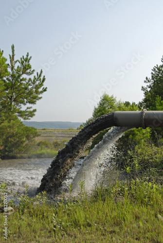 Valokuva  Industrial Waste Discharge