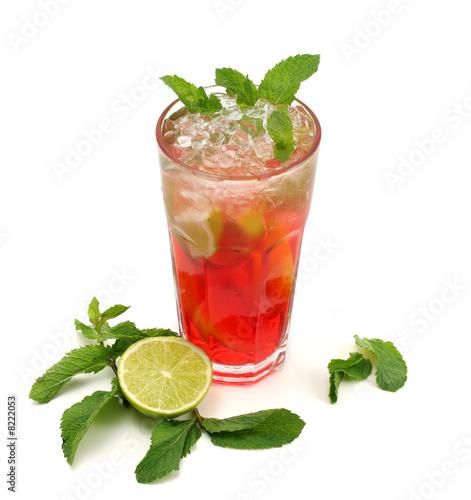 Keuken foto achterwand Opspattend water Cocktail - Iced Tea