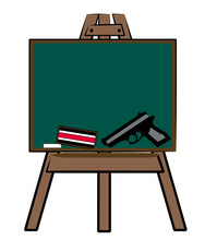 Chalkboard With Chalk Eraser A...