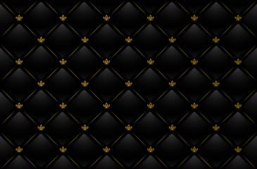 Vector illustration of black leather background