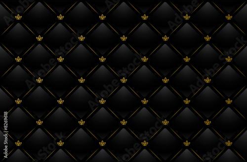 Motiv-Fußmatte - Vector illustration of black leather background