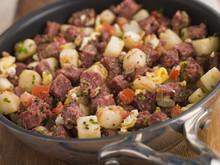 Corned Beef Hash In A Frying Pan