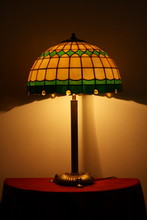 Stained Glass Lamp On A Table