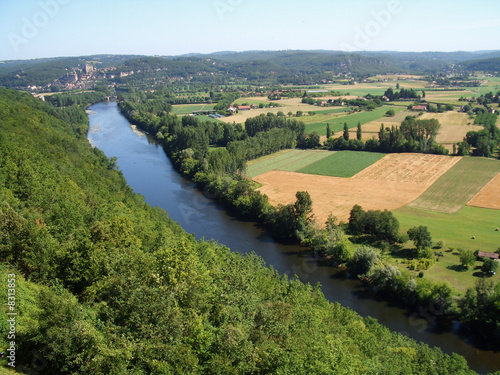 Dordogne_Luftaufnahme Canvas Print