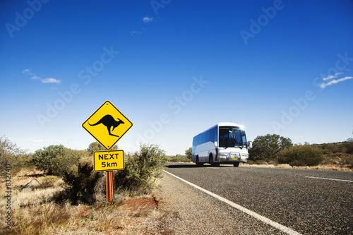 Poster Nieuw Zeeland Bus rural Australia