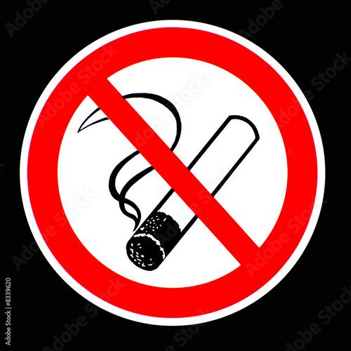 Fotobehang Rook Rauchen ist Sucht