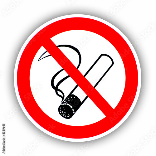 Fotobehang Rook Rauchen verboten!