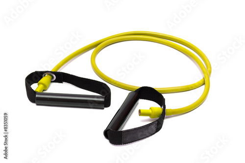 Valokuvatapetti rubber,shock-absorber on white (clipping path)