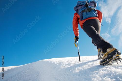 Papiers peints Glisse hiver Mountain climber