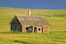 Old Abandoned Homestead On The...