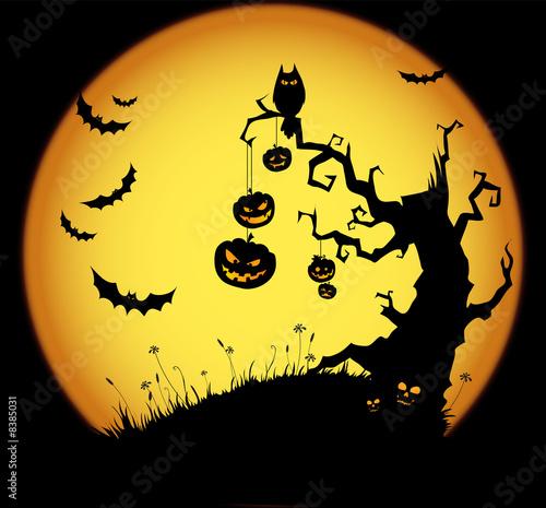 Foto-Plissee - Halloween background (von Daria T.)