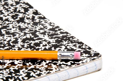 Fotografie, Obraz  Pencil and Notebook