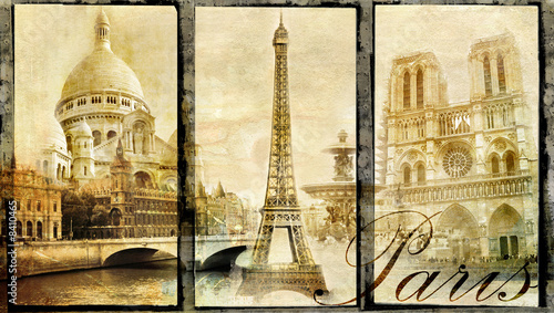 old Paris - vintage collage #8410465