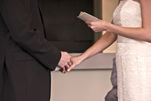 Reading Vows At A Wedding
