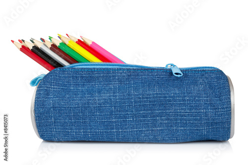 Fotomural Blue pencil case