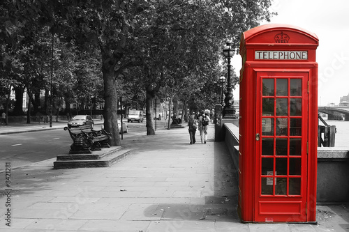 Tuinposter Londen London Telephone Booth