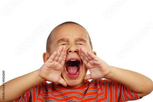 Fényképezés Boy shouting