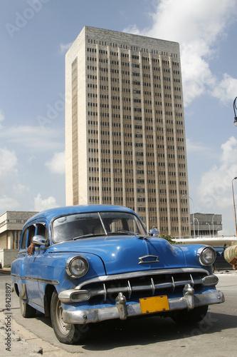 Deurstickers Cubaanse oldtimers capital Havana