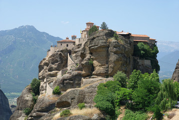 Fototapeta na wymiar Monastery Varlaam Meteora Greece Thessaly