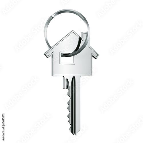 Fotografie, Obraz  House key in key ring