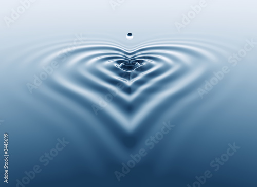Fotografie, Obraz Heart shaped splash