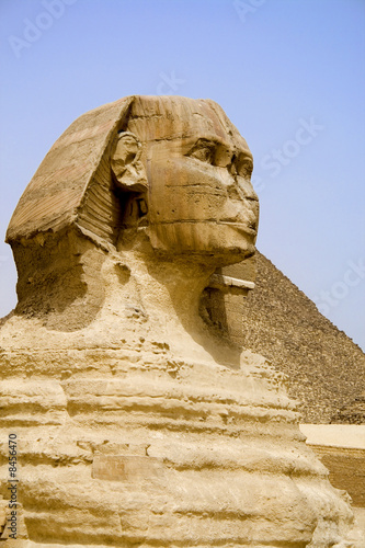 Tuinposter Egypte Egyptian Sphinx and Pyramid