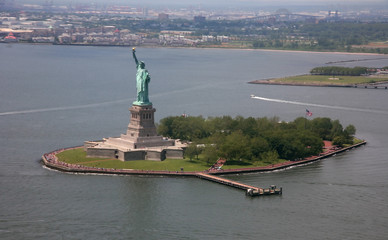 Obraz na SzkleUSA, New York, Statue of Liberty