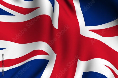 Fotografie, Obraz  Rendered British Flag